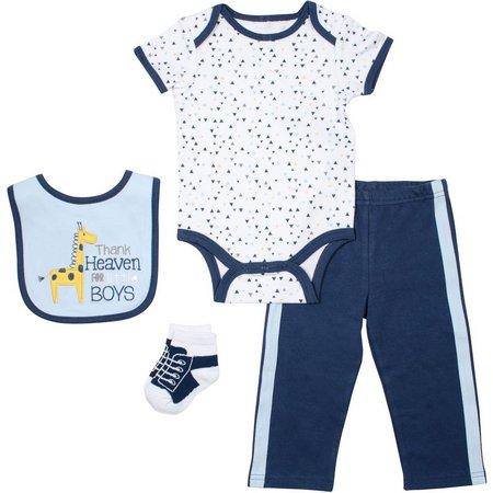 Baby Gear Baby Boys 4-pc. Giraffe Layette Set