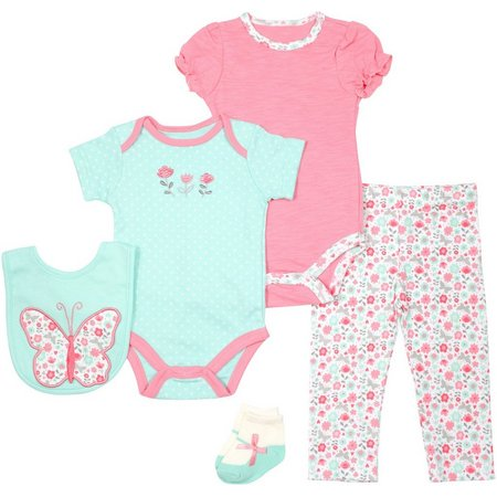 Baby Gear Baby Girls 5-pc. Butterfly Layette Set