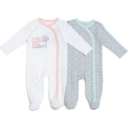 Kyle & Deena Baby Girls 2-pk. Footed Coverall