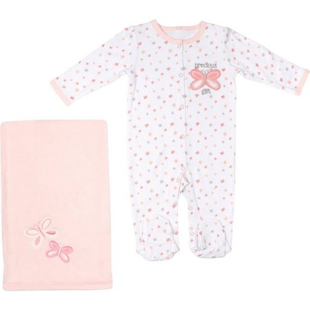 Baby Gear Baby Girls Precious Gift Jumpsuit Set