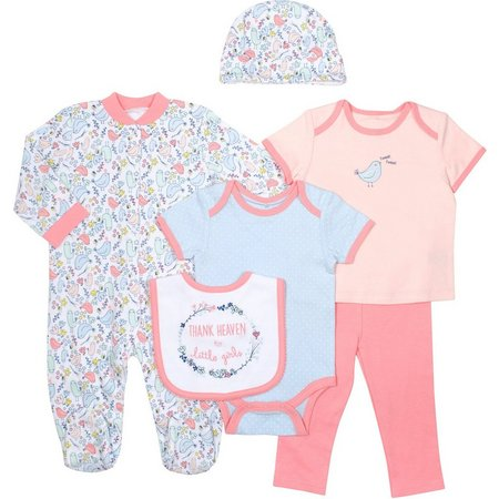 Baby Gear Baby Girls 6-pc. Heaven Layette Set