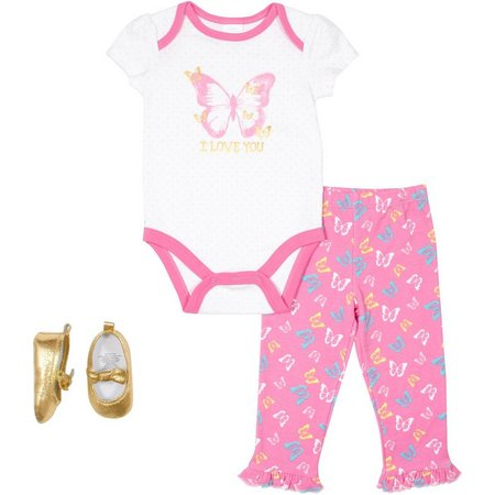 Baby Gear Baby Girls 3-pc. I Love You