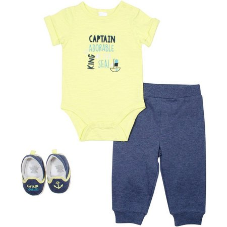 New! Baby Gear Baby Boys 3-pc. Captain Layette