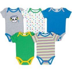 Baby Gear Baby Girls 5-pk. Panda Bodysuits