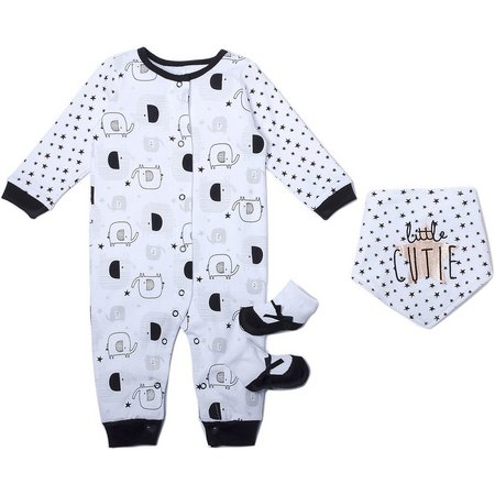 Chick Pea Baby Girls 3-pc. Elephant Layette Set