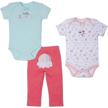 Kyle & Deena Baby Girls 3-pc. Hello Spring