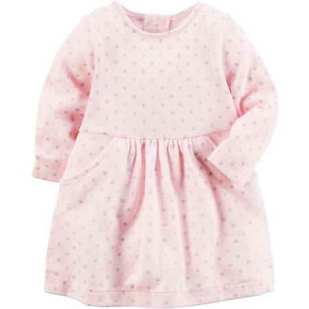 Carters Baby Girls Polka Dot Sweater Dress