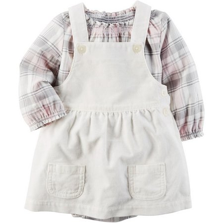 Carters Baby Girls 2-pc. Plaid Skirtall Set