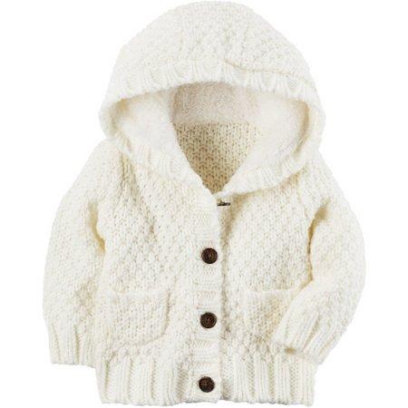 Carters Baby Girls Wool Hooded Cardigan