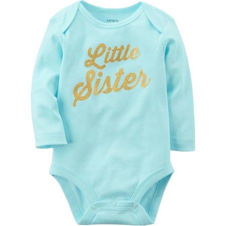 Carters Baby Girls Little Sister Bodysuit