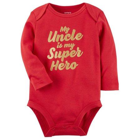 Carters Baby Girls Superhero Uncle Bodysuit