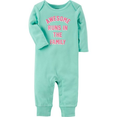 Carters Baby Girls Awesome Family Jumpsuit