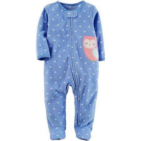 Carters Baby Girls Fleece Owl Sleep & Play