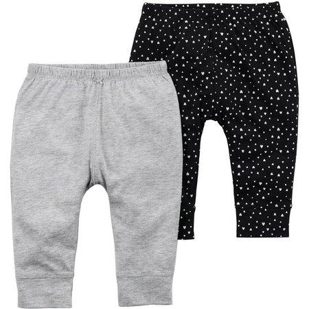 Carters Baby Girls 2-pk. Heart Pants