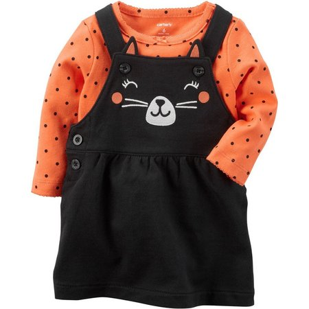 Carters Baby Girls Halloween Cat Jumper Set