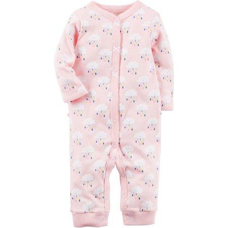 Carters Baby Girls Cloud Ruffle Bottom Jumpsuit
