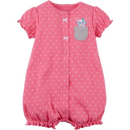 Carters Baby Girls Polka Dot Mouse Romper