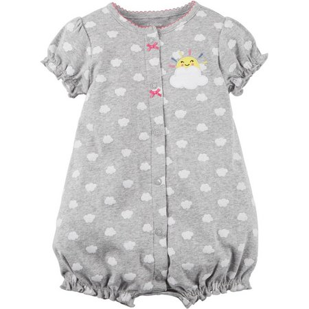 Carters Baby Girls Sunrise Rainbow Snap-Up Romper