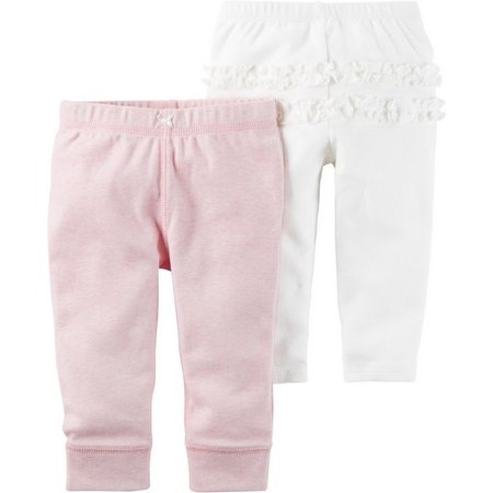 Carters Baby Girls 2-pk. Sweet Heart Pull-On Pants