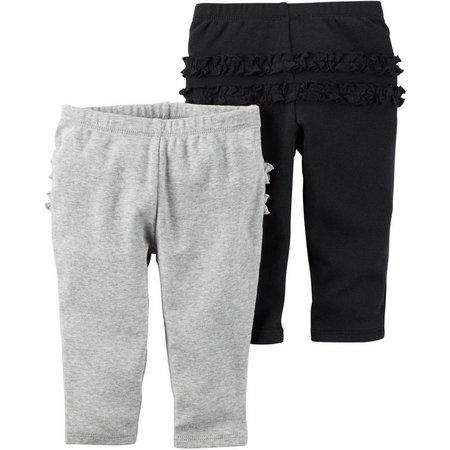 Carters Baby Girls 2-pk. Ruffle Pants