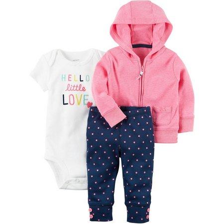 Carters Baby Girls 3-pc. Little Sweet Heart Hi