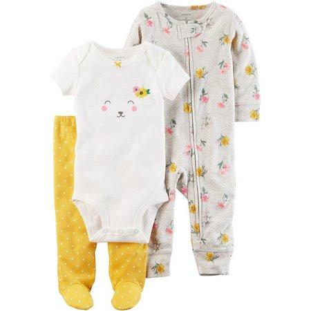 Carters Baby Girls 3-pc. Lamb Layette Set