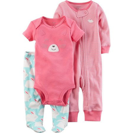 Carters Baby Girls 3-pc. Bunny Layette Set