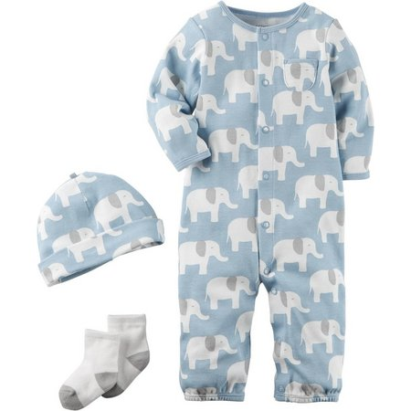 Carters Baby Boys 3-pc. Elephant Layette Set