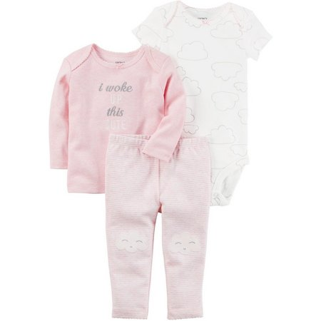 Carters Baby Girls 3-pc. Woke Up Cute Layette