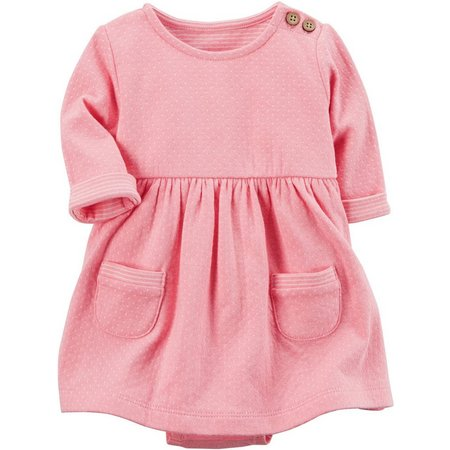 Carters Baby Girls Polka Dot Print Dress