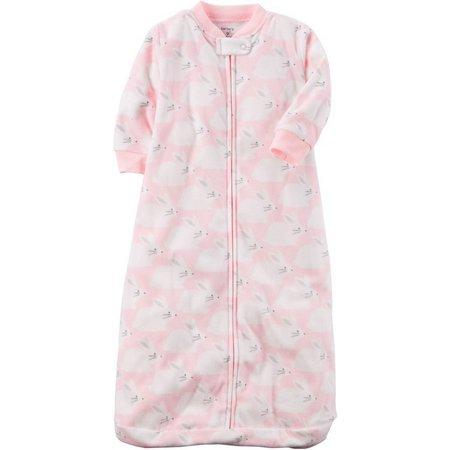 Carters Baby Girls Bunny Microfleece Sleeper Gown