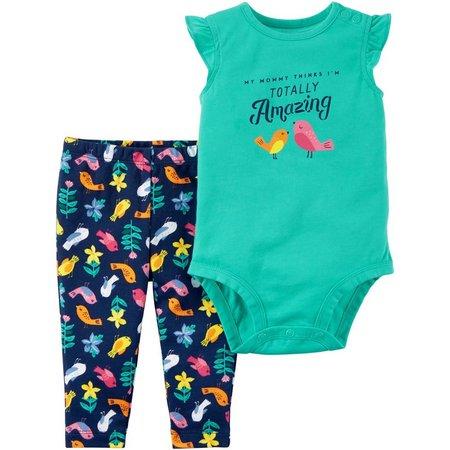 Carters Baby Girls Totally Amazing Bodysuit Set