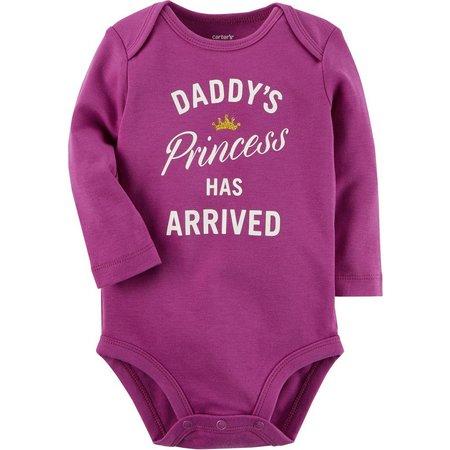 Carters Baby Girls Daddy's Princess Bodysuit