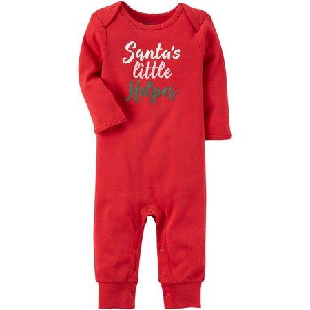 Carters Baby Girls Santa's Little Helper Jumpsuit
