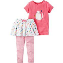 Carters Baby Girls Kitty Dot Pants Sets