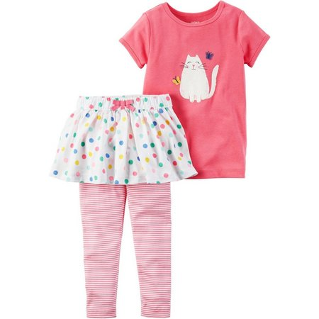Carters Baby Girls Kitty Dot Pants Sets