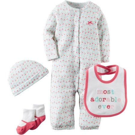 Carters Baby Girls 4-pc. Hello Cutie Layette Set