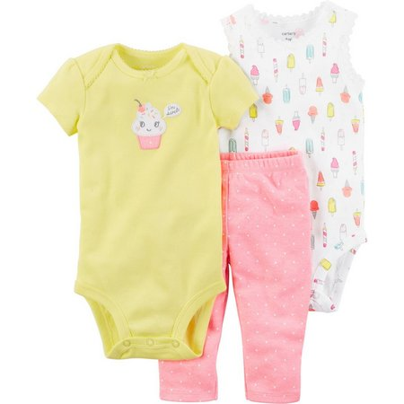 Carters Baby Girls 3-pc. I'm Sweet Ruffle Layette