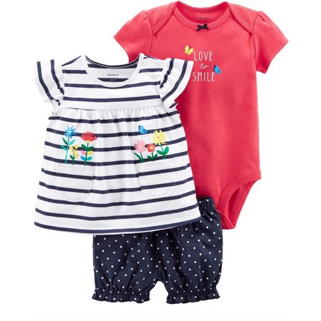 Carters Baby Girls 3-pc. Love To Smile Layette