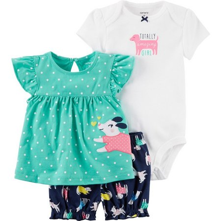 Carters Baby Girls 3-pc. Totally Amazing Girl Layette