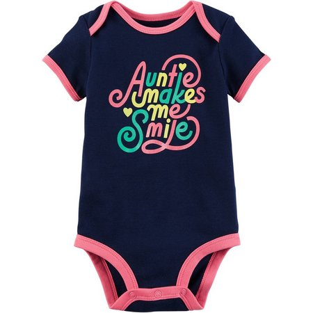 Carters Baby Girls Auntie Makes Me Smile Bodysuit