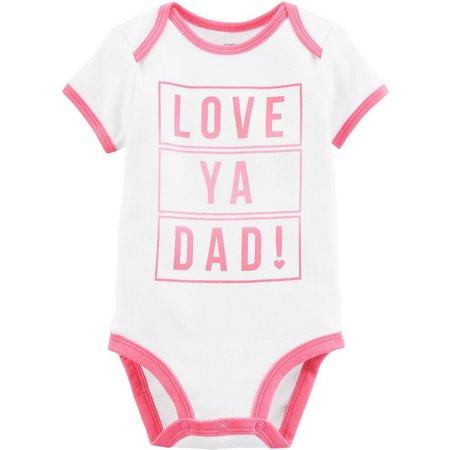 Carters Baby Girls Love Ya Dad Bodysuit