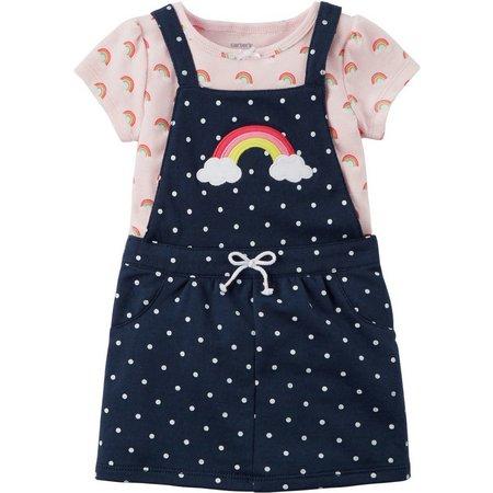 Carters Baby Girls Rainbow Dot Jumper Set