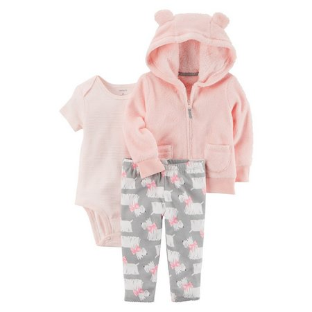 Carters Baby Girls 3-pc. Little Scotty Jacket Set