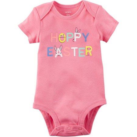 Carters Baby Girls Hoppy Easter Bodysuit