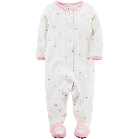Carters Baby Girls Ballerina Slipper Sleep & Play