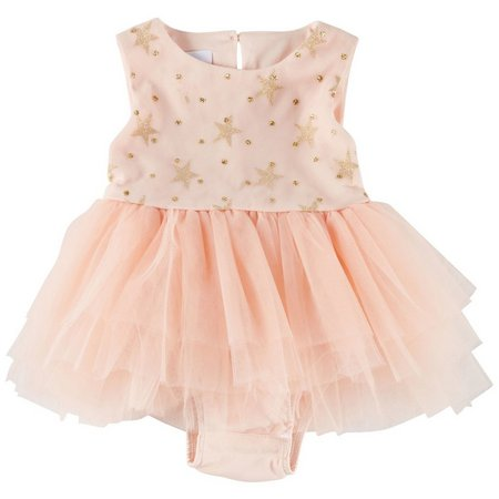 Petite Frais Baby Girls Star Tutu Bodysuit Dress
