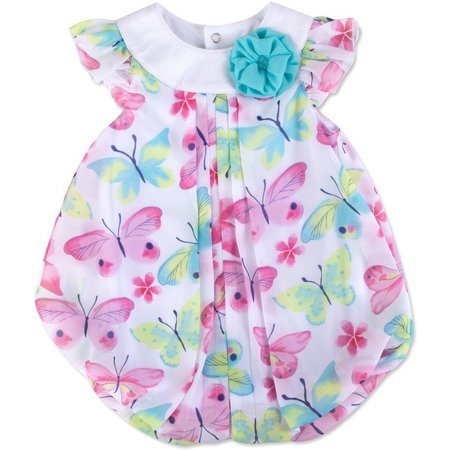 Baby Essentials Baby Girls Butterly Bubble Romper