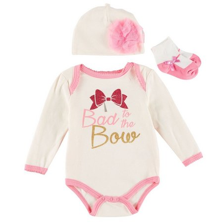 Buster Brown Baby Girls 3-pc. Bad To The