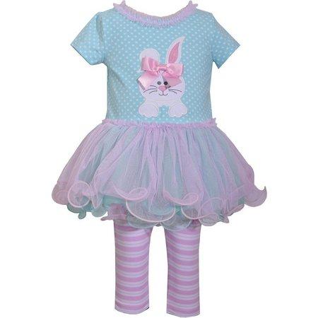 Bonnie Jean Baby Girls Bunny Tutu Leggings Set
